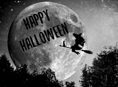 Hexe zu Halloween